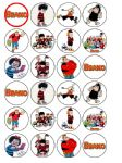 24 The Beano Edible Wafer Rice Paper Cupcake Toppers